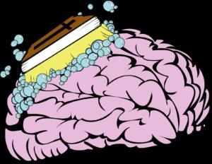 Kuva 1. Kirkko aiemmin käytettiin keinona aivopestä ihmisiä, nykyään televisiosta on tuullut uusi kanava ihmisten aivopesemiseen.